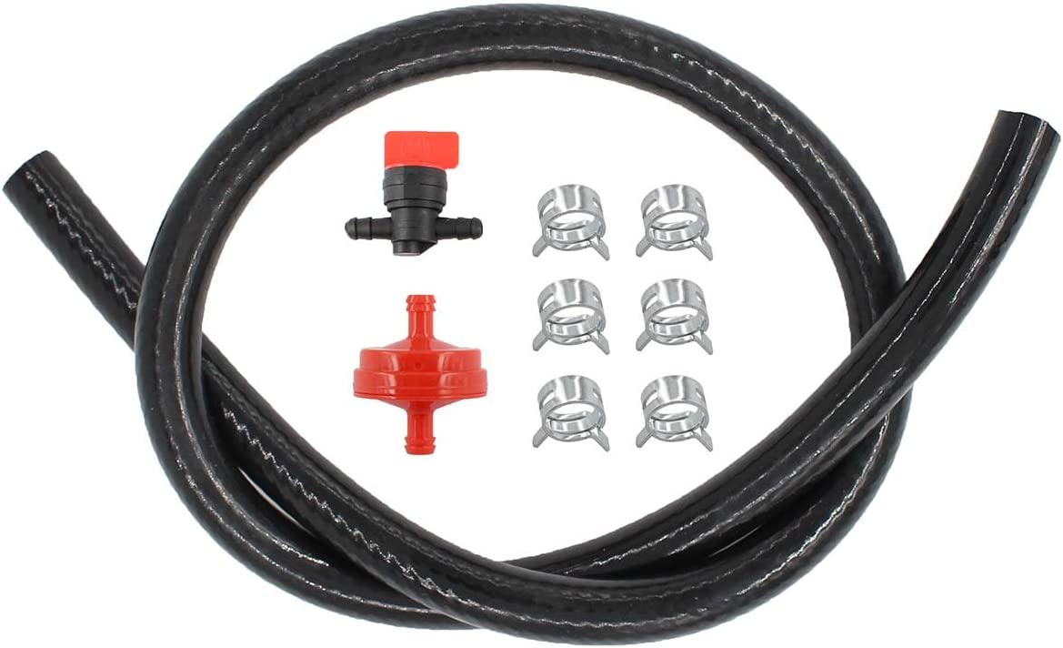 Amazon Com Motoku 1 4 Gas Fuel Line Hose Filter Fuel In Line Shut Off Valve For Briggs Stratton 698183 Quantum Engine 5414k 5098k 394358s 283207 95162s 791850 Fits Husqvarna Riding Lawn