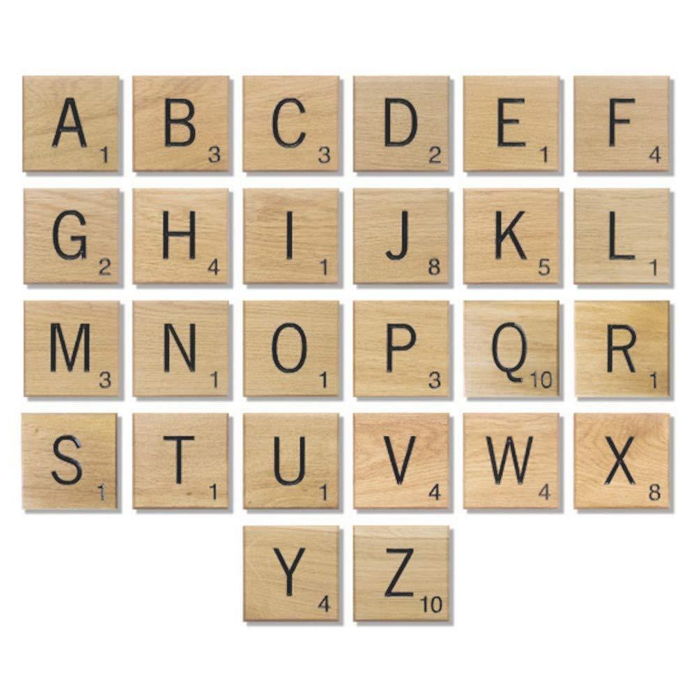 Samtlan 200 Piezas de Cartas de Madera Scrabble Azulejos ...