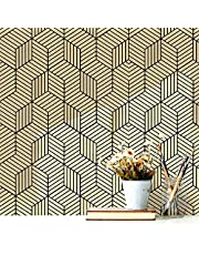 """Peel and Stick Wallpaper Geometric Hexagon Wallpaper Removable Self Adhesive Contact Paper Vinyl Film Shelf Paper and Drawer Liner for Home Decorative 17.71""""x 118"""""""