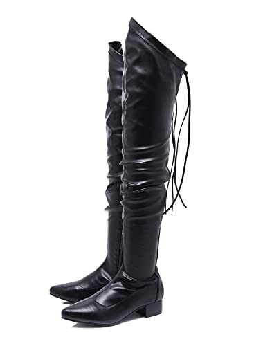 2bb2d2fee86 Amazon.com | Stupmary Women's Over The Knee Boots Pointed Toe Thigh ...