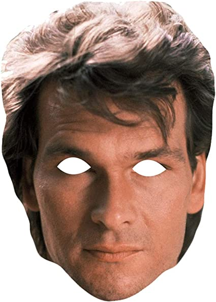 Celebrity Mask Card Face and Fancy Dress Mask Patrick Swayze Young