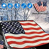 Deals on Big Ant Snow Cover American Flag Windshield Snow Cover