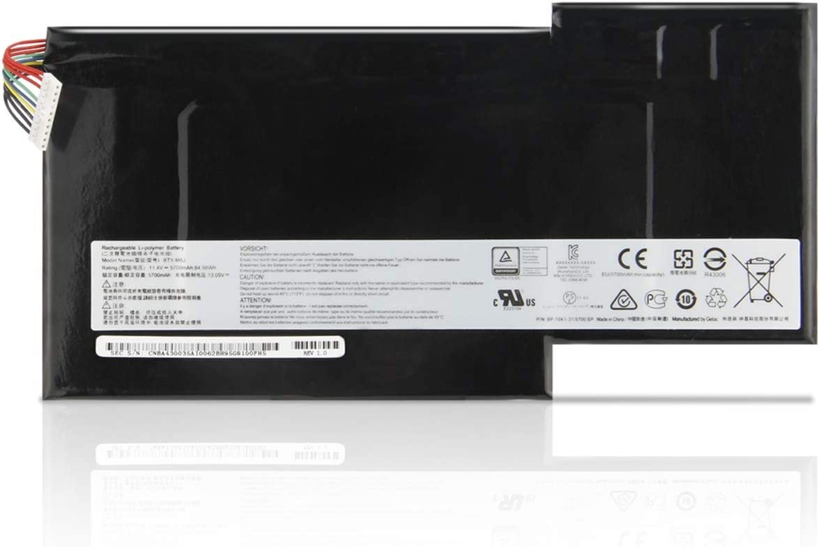 ASKC 64.98Wh 5700mAh BTY-M6J BTY-U6J Baterías para MSI GS63 GS63VR GS73 GS73VR 6RF Stealth Pro 6RF-001US BP-16K1-31 Series Gaming Laptop