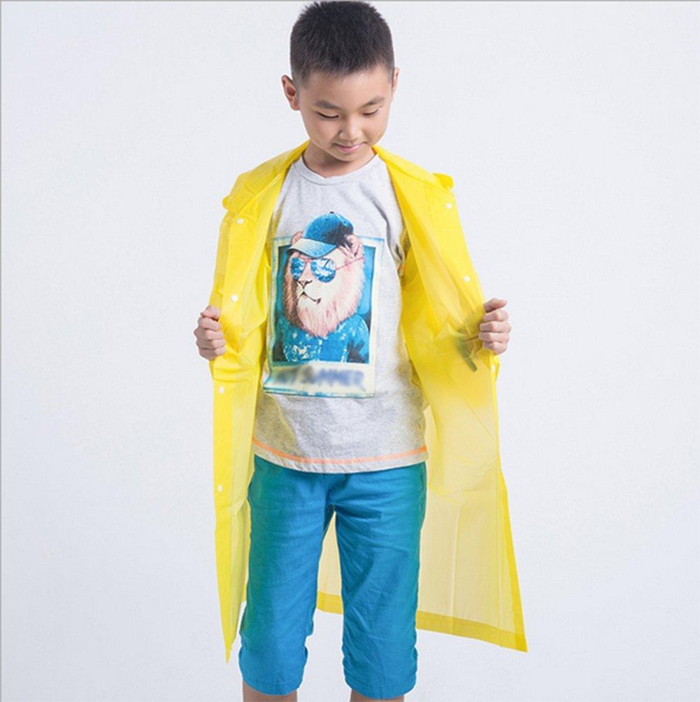 Milopon Raincoat Kids Waterproof Poncho EVA Rain Coat for Kids Long Rainwear white