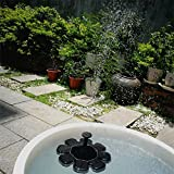 Leoie Flower-shape Solar Powered Floating Fountain for Pond Garden Decoration