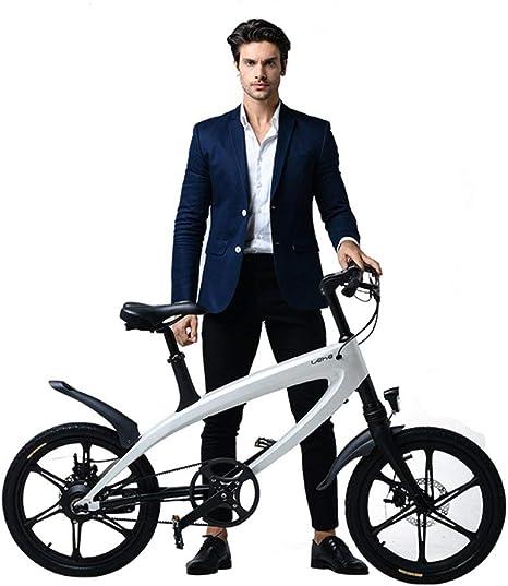 YUNYIHUI Bicicleta eléctrica de 20 Pulgadas, Bicicleta eléctrica ...