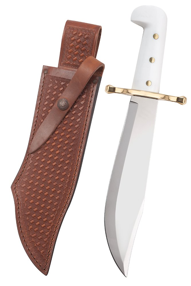 Case Bowie with White Handle Knife by Case