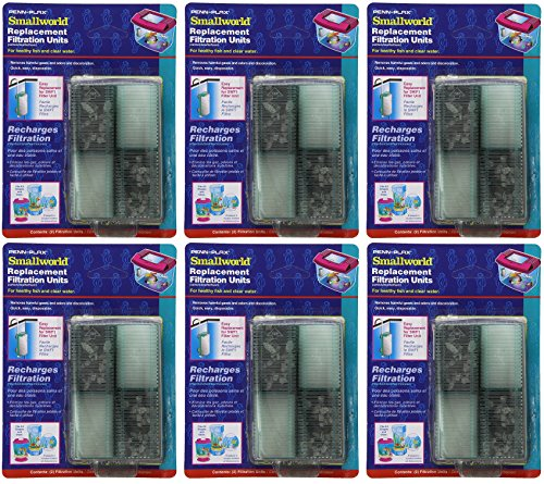 Penn Plax 12-Pack Small World Filter Units and Replacement Cartridges for Small Tanks Small World Replacement