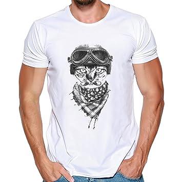 Camiseta estampado de hombre manga corta,Sonnena ❤ Hombres que impresión la camiseta Blusa