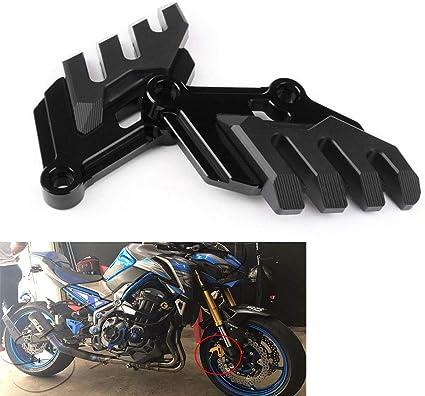 Chudan Kawasaki Motorräder Sturzschutz Sturzpads Caliper Dekorative Abdeckung Bruchsicherer Schutzblock Für Kawasaki Z900 2017 Black Sport Freizeit