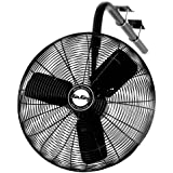 Air King 9625 24-Inch 1/4-Horsepower Industrial Grade Oscillating I-Beam Mount Fan with 5,130-CFM, Black Finish