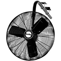 Air King 9675 30-Inch 1/3-Horsepower Industrial Grade Oscillating I-Beam Mount Fan with 8,780-CFM, Black Finish