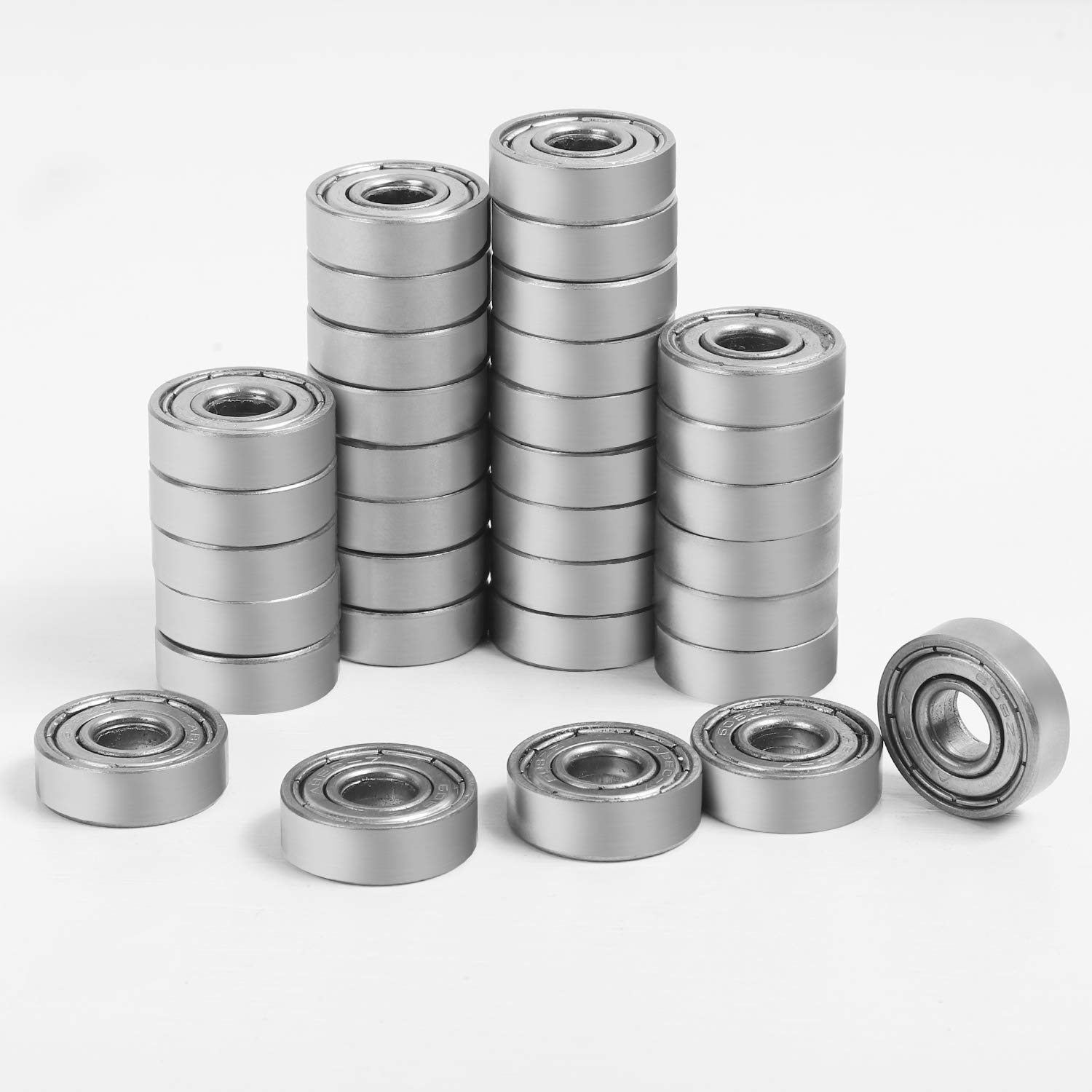 Smooth and Durable Double Shielded Skateboard Bearings Longboards 8x22x7 High-Speed Roller Bearings for Scooters KEILEOHO 120 PCS 608 ZZ Miniature Ball Bearings Roller Skates Mini Cruisers