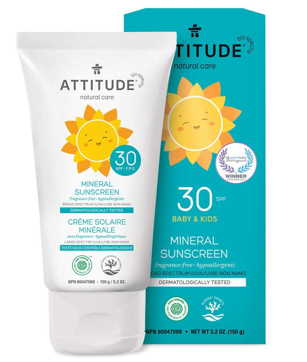 attitude 100 mineral sunscreen fragrance free 5 ounce