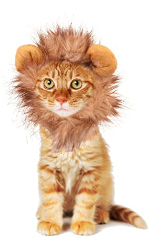 Rocpet Pet Costume Lion Mane Wig for Dog Cat Halloween Dress up with Ears, Lion