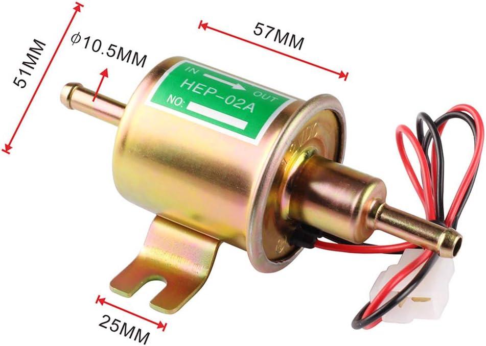 Iswell Universal Elektronische Kraftstoffpumpe 12 V 24 V Auto Modifikation Niederdruck Diesel/öl Motorrad Kraftstoffpumpen