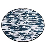 Dark gray round carpet / bedroom round crawling pad / thickness 0.8cm non-slip Nordic carpet / simple children's cartoon mat / computer chair carpet ( Size : Diameter 160cm )