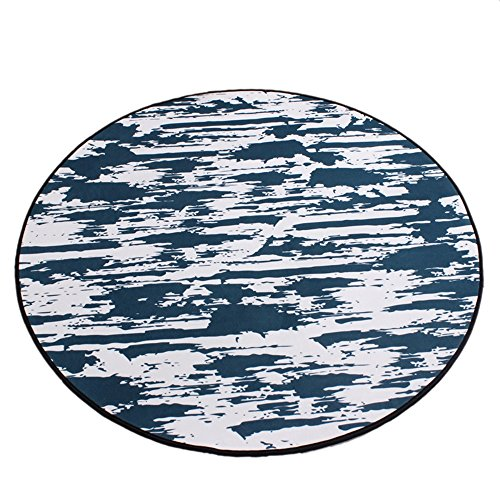 Dark gray round carpet / bedroom round crawling pad / thickness 0.8cm non-slip Nordic carpet / simple children's cartoon mat / computer chair carpet ( Size : Diameter 160cm ) by XIN-Carpet
