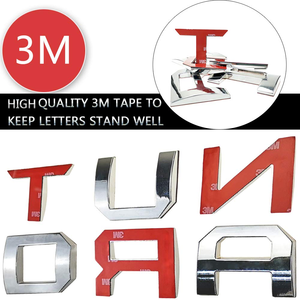 Auto safety 3D Raised Tailgate Metal Letters for Toyota Tacoma 2016 2017 2018 2019 Tailgate Inserts Toyota Tacoma Accessories Matte Black