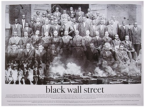 Black Wall Street Poster Black & White Art Print African American Black History (18x24) - Black Art Posters