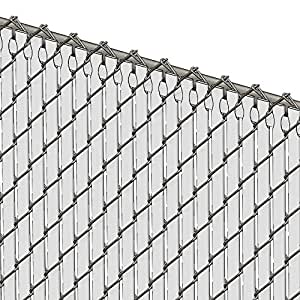 Amazon Com Chain Link Vinyl Privacy Slats 6 High White Home Improvement