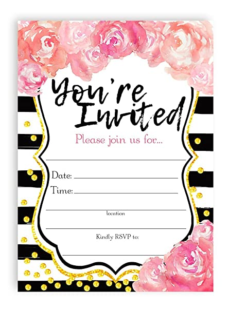 amazon com watercolor flower large invitations graduation