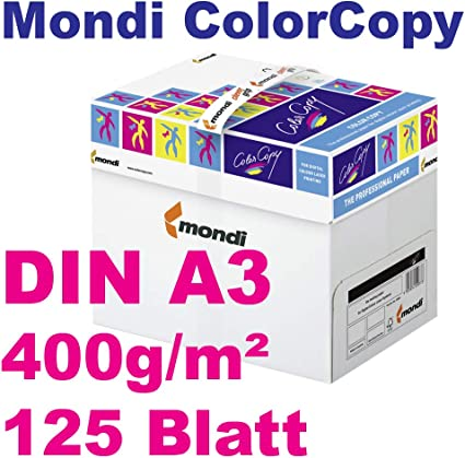 Color Copy Mondi – Papel (400 g/m² DIN A3 VE=125 hojas para ...