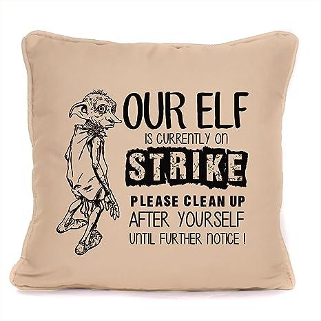 Amazon.com: Potter inspirado Dobby Cojín Elfos en huelga ...
