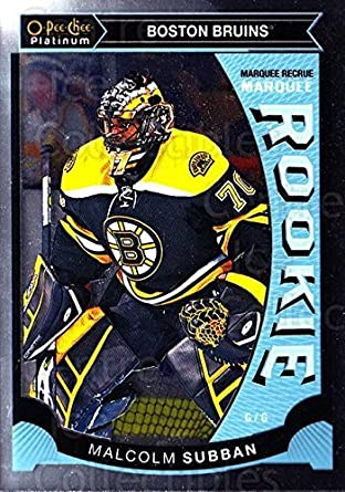 Amazon Com Ci Malcolm Subban Hockey Card 2015 16 O Pee Chee