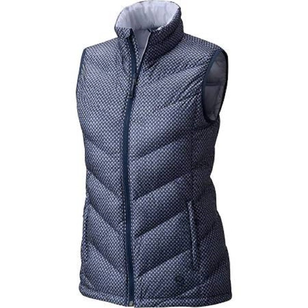 Mountain Hardwear Women's Ratio Down Vest Zinc Print Large by Mountain Hardwear