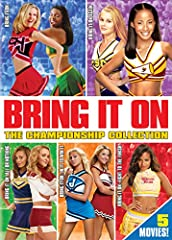 Bring on the spirit, spunk and high-flying competitions with everyone's favorite cheerleading series, Bring It On: The Championship Collection! All five high-energy and fun Bring It On movies together in one complete collection: Bring It On, ...