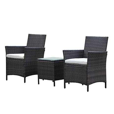 Amazon Patio Rattan Outdoor Garden Furniture Set of 3PCS