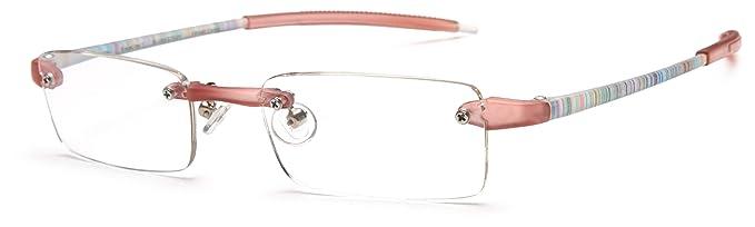 b14450034421 Visualites 201 Reading Glasses,Blush Stripes Frame/Clear Lens,1.00  Strength,48
