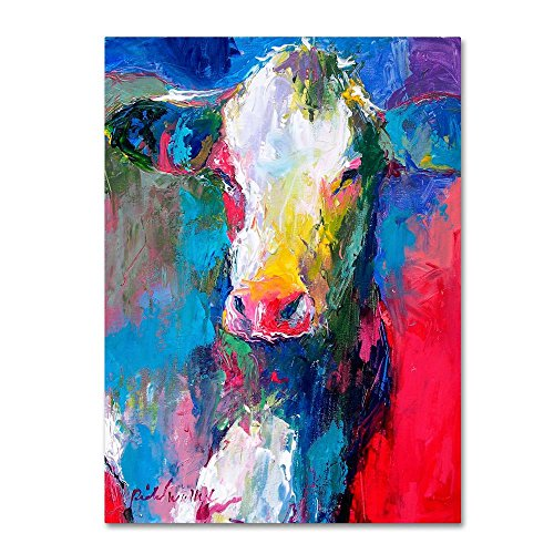 Art Cow 2 by Richard Wallich, 18x24-Inch Canvas Wall -