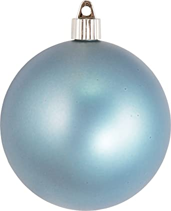 Christmas Ball Ornaments.Christmas By Krebs Large Commercial Shatterproof Uv Resistant Plastic Christmas Ball Ornament Wedding Party Event Decor 4 100mm Arctic Chill Blue