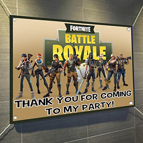 FORTNITE Battle Royale Banner Video Game Large Vinyl Indoor Or Outdoor Banner Sign Poster Backdrop, Party Favor Decoration, 30