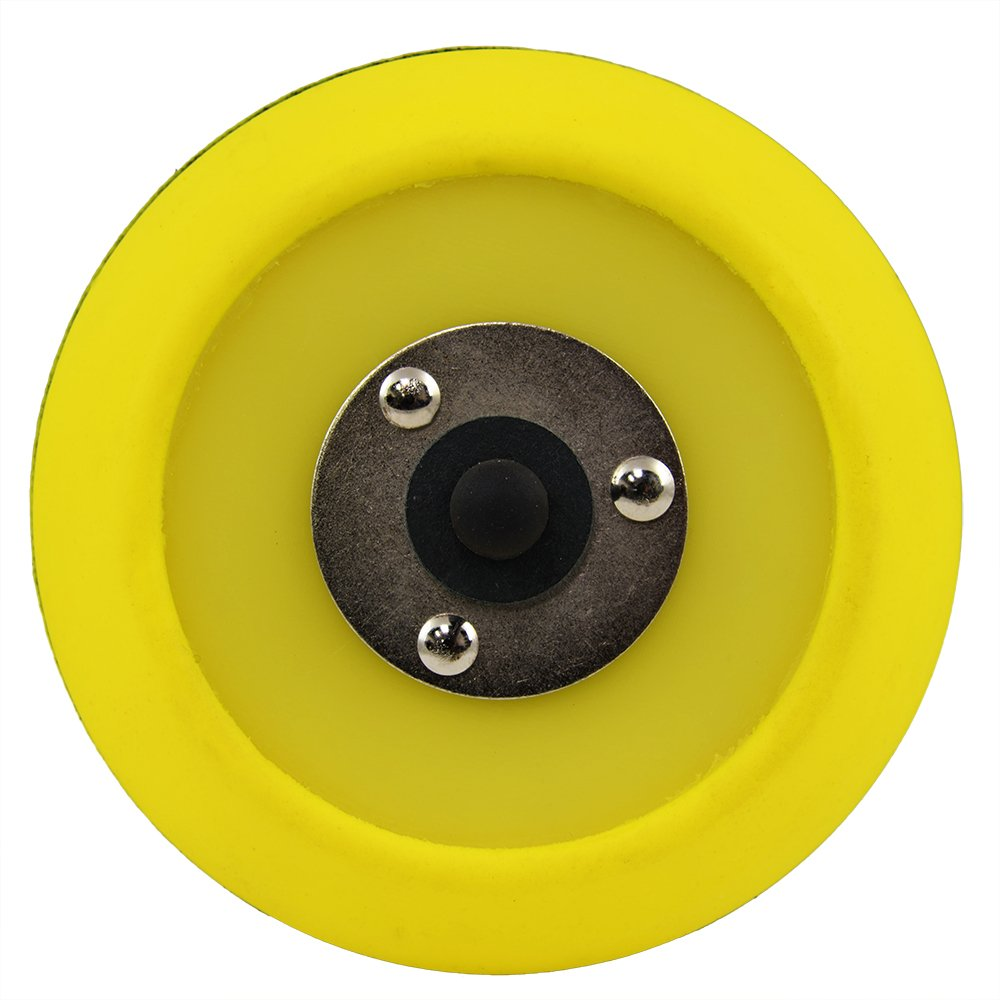 6 Inch Red TORQ R5 Rotary Backing Plate with Hyper Flex Technology