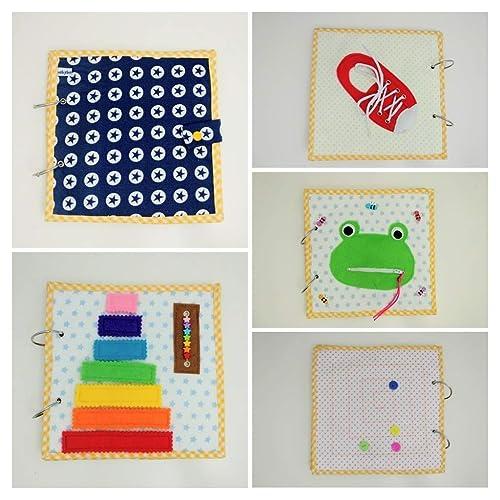 Libro sensorial de tela y fieltro babybookspain: Amazon.es ...