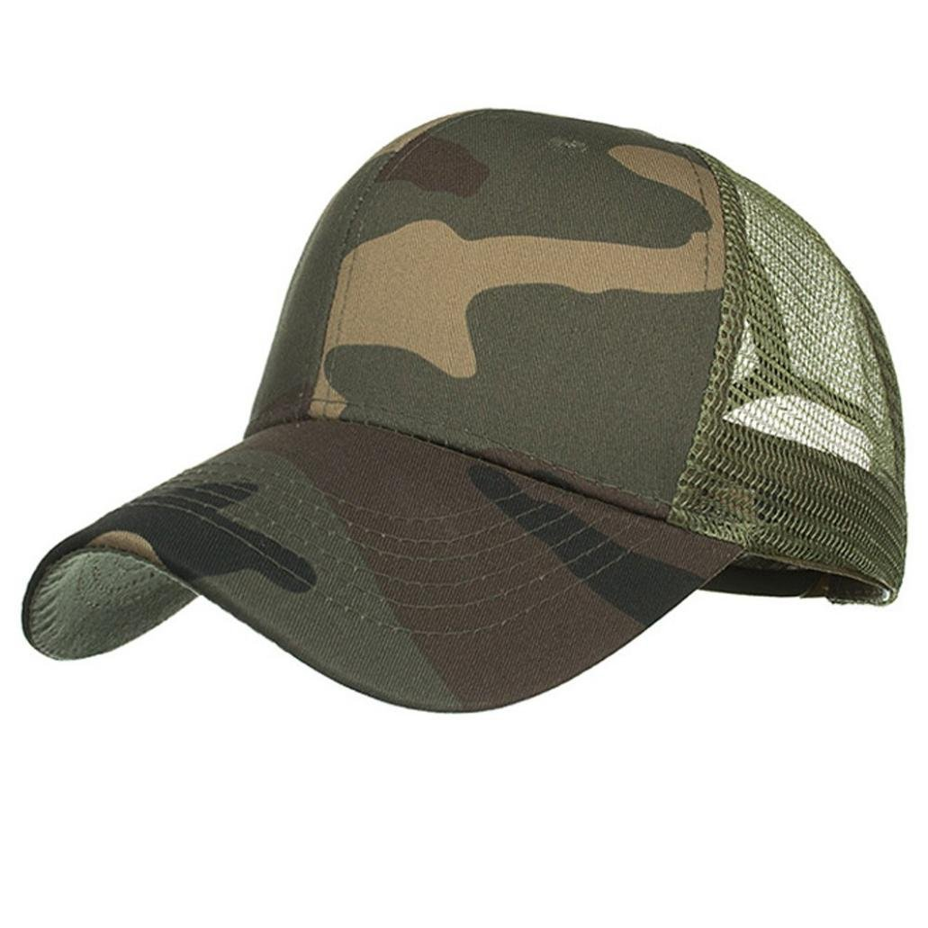Amazon.com  UMFun Camouflage Summer Cap Mesh Hats Baseball Hat for Women  Men Adjustable Hip Hop Caps (Army Green)  Beauty 03626b00c771