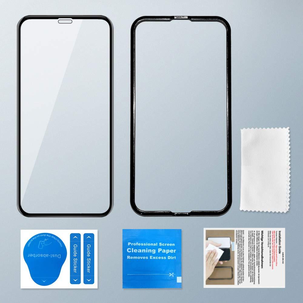 AsBellt Protector Pantalla de iPhone XR 9H Dureza ,Cristal Vidrio Templado de 3D//Protector de Pantalla para iPhone XR 3D Cobertura Sin burbujas