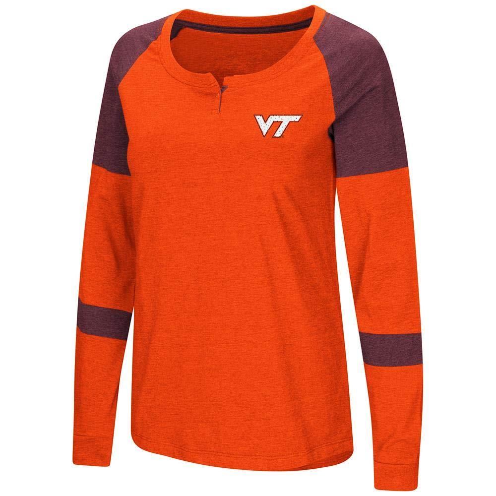 Colosseum レディース Virginia Tech Hokies 長袖ラグランTシャツ B07GT8G3JW   X-Large