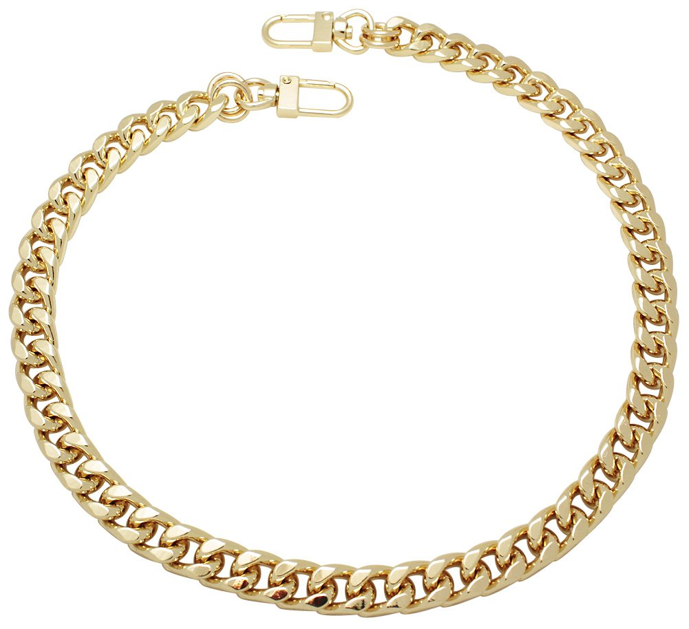 k-craft BG02 115cm Purse Metal Chain Strap Replacement Gold Crossbody Shoulder Strap Handbag