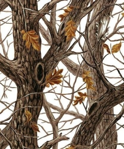 Winter Camo Camouflage Tree Branches Fleece Fabric Print by the Yard o27028b