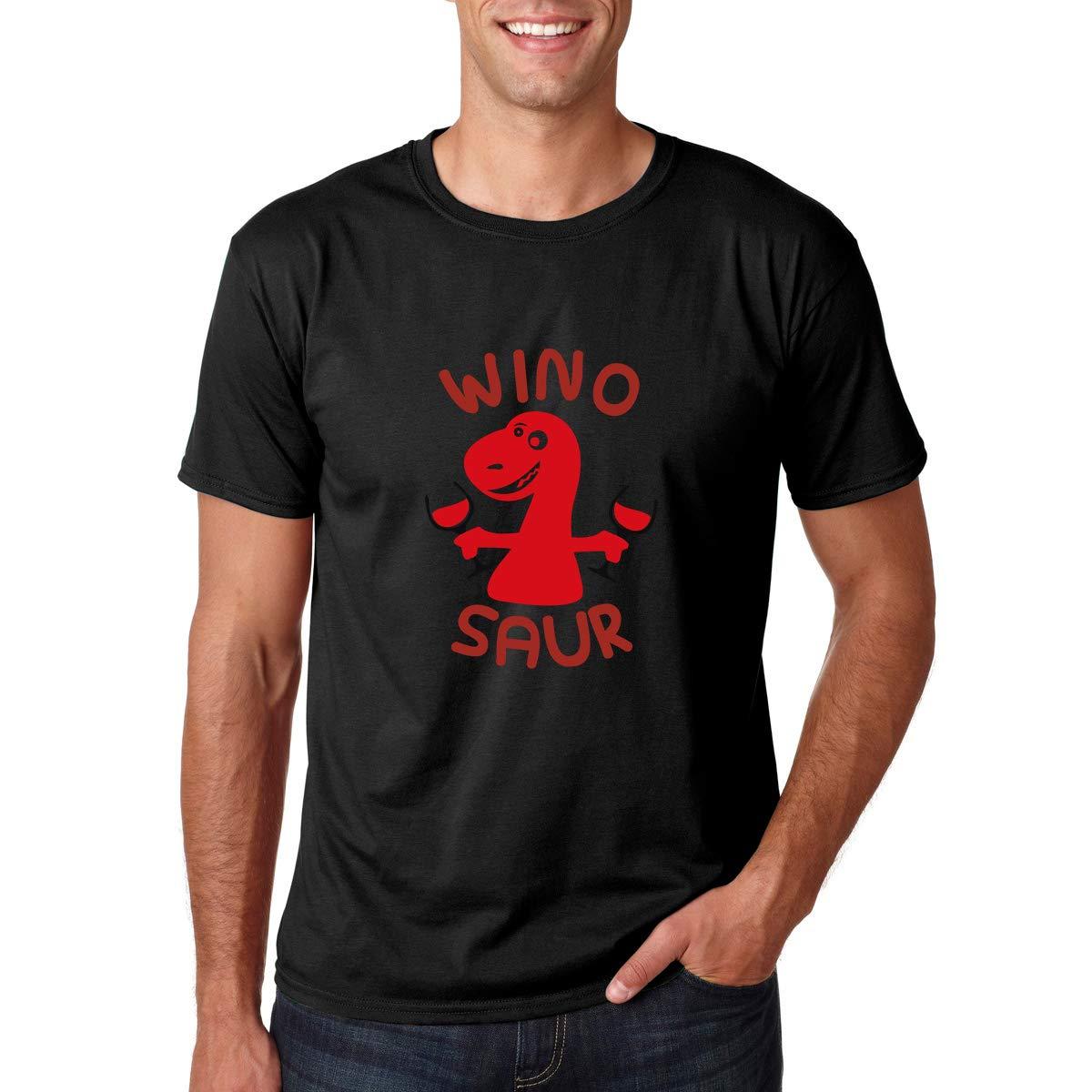 Wino Saur Winosaurus Wine Drinking Dinosaur Winosaur Animal And Wine Lover Pun S Shirts