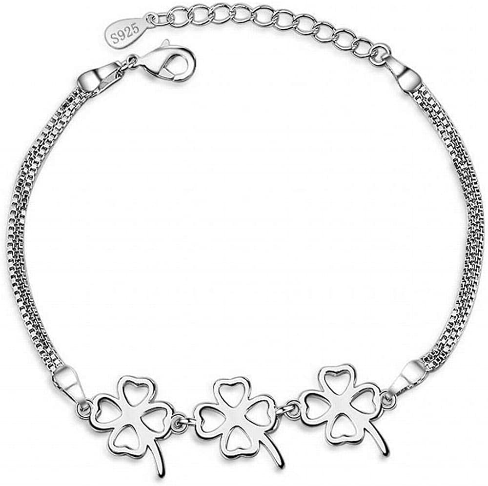 LOt Bangles Bracelets Fashion Four-Leaf Clover Bracelet Female Fashion Flower Bracelet