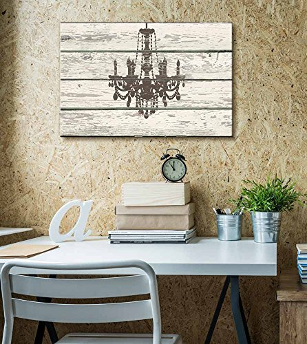 Chandelier Silhouette Crystal Candles II Artwork Rustic