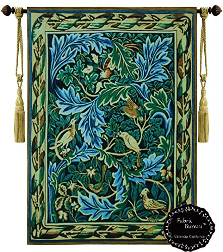 Art Deco Hanging (Beautiful the Birds Tapestry Les Oiseaux By William Morris Fine Tapestry Jacquard Woven Wall Hanging Art Decor (Yw68))