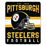 Pittsburgh Steelers Blanket 50x60 Fleece Singular Design