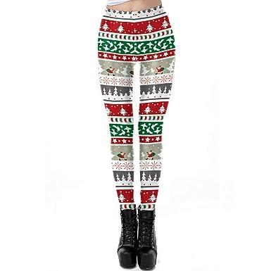 Pantalones Deportivos de Yoga con Estampado de Navidad Leggings ...