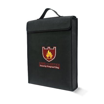 Ignífugo bolsa de documento Bolsa de fuego y resistente al agua bolsa de dinero/recargable, revestimiento de silicona fibra de vidrio, con cremallera, ...